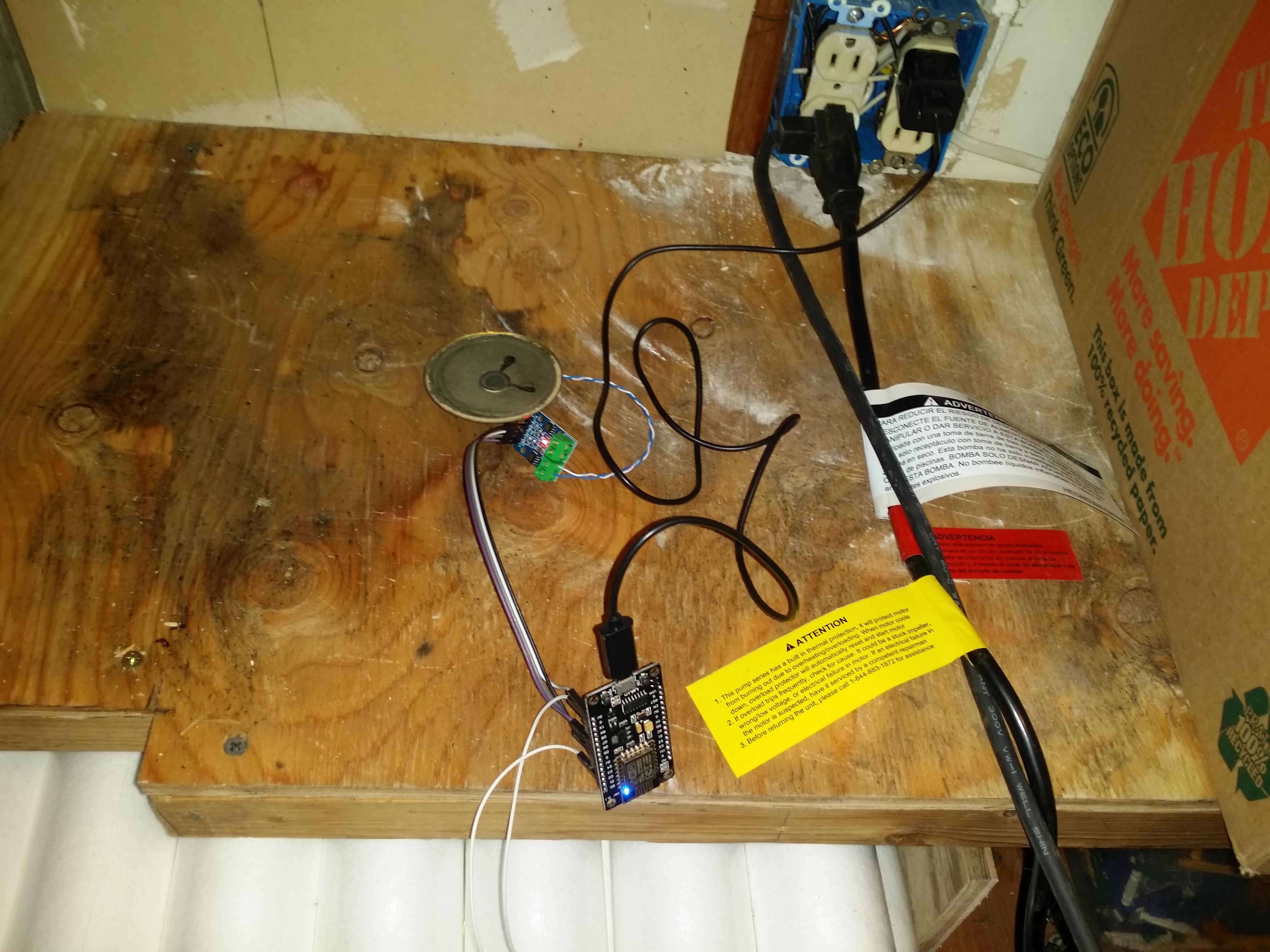 A Wireless Sump Pump Not Working Alarm Using MicroPython and NodeMCU